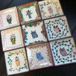 猫の九谷焼・伊藤雅子さんのブローチ(通販できます)